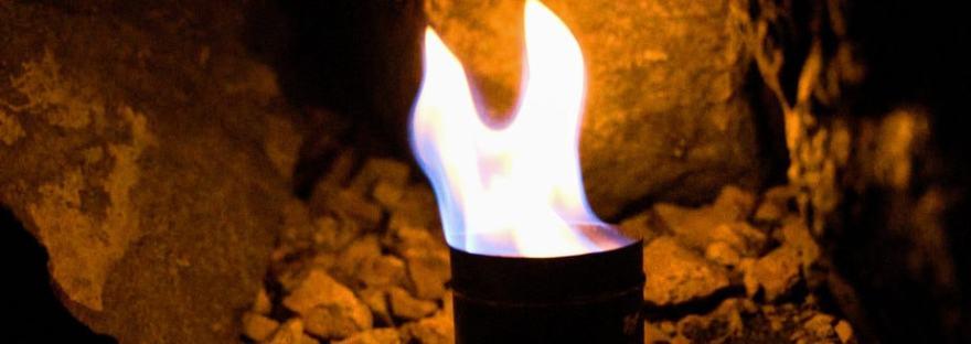 brennende Feuerschale