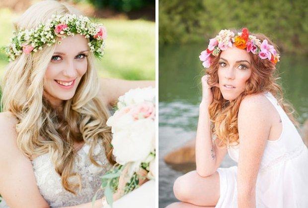 BlumenHaarkrnze fr die Braut flower crowns
