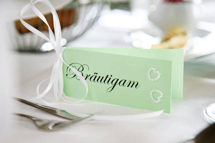 Tischkarten basteln Hochzeit  Galerie Hochzeitsportal24