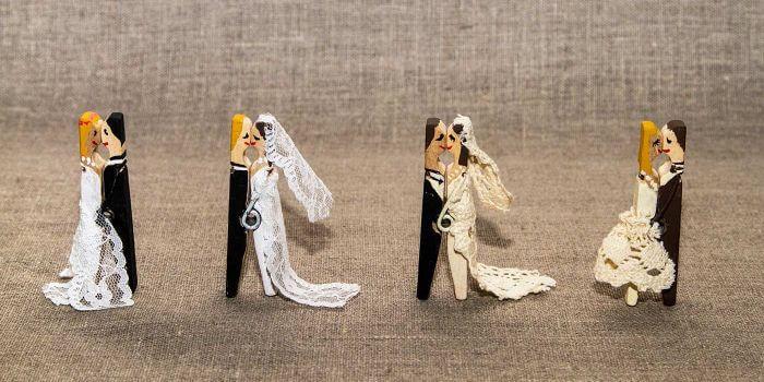 WscheklammerBrautpaar  DIYAnleitung um das Brautpaar zu basteln