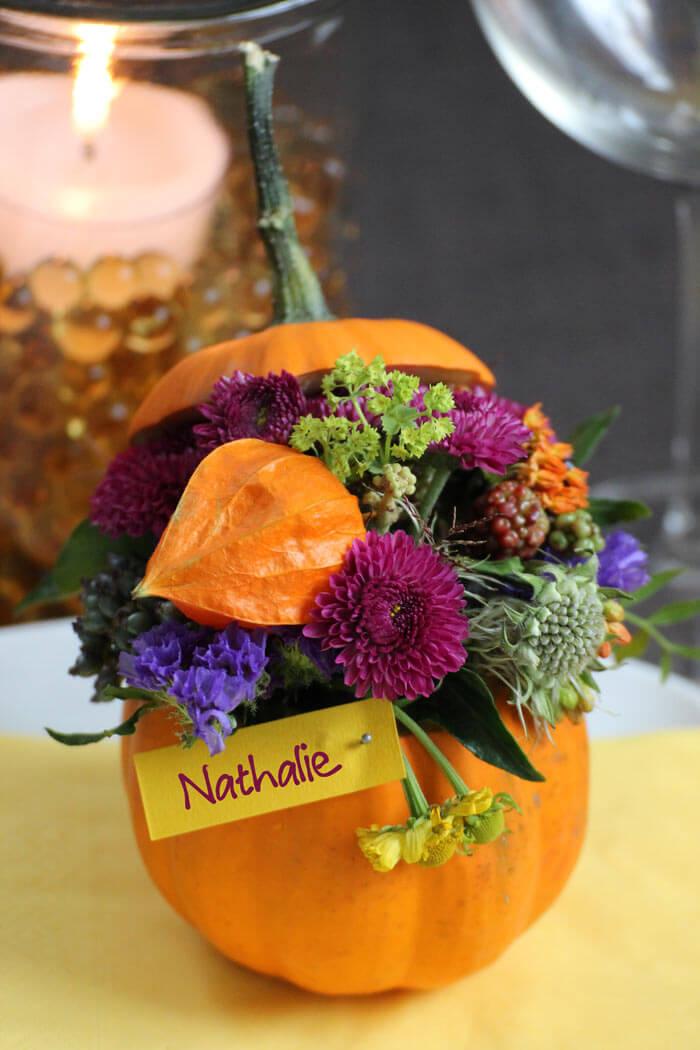 Herbstliche Tischkarten  Bildergalerie Hochzeitsportal24