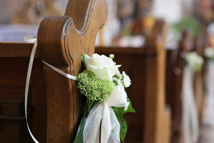 Hochzeitsdeko Kirchenbnke  Bildergalerie Hochzeitsportal24