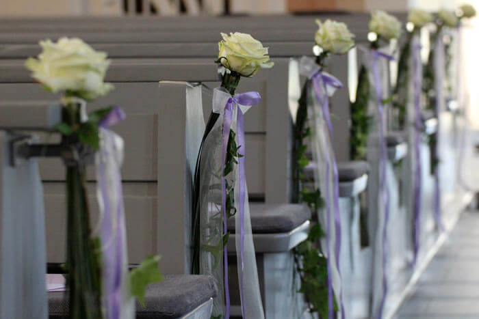 Kirchendeko fr Hochzeit  Hochzeitsportal24