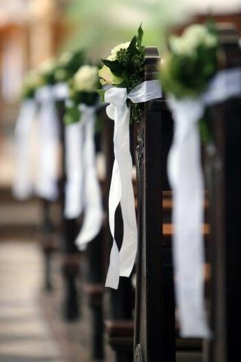 Kirchenschmuck Hochzeit Bank  Galerie Hochzeitsportal24