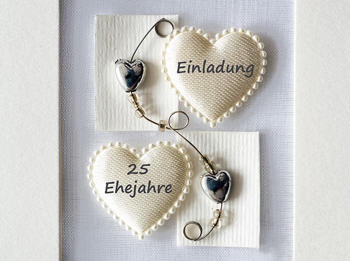 Silberhochzeit Einladungskarten  Hochzeitsportal24
