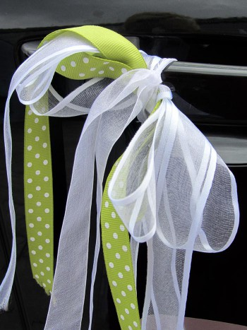 Autoschleifen fr die Hochzeit  Kaufen oder basteln
