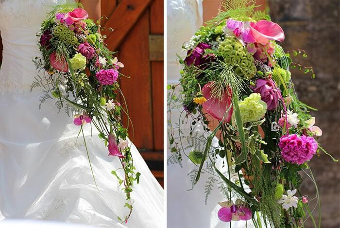 Brautstrau abflieend  Bildergalerie Hochzeitsportal24