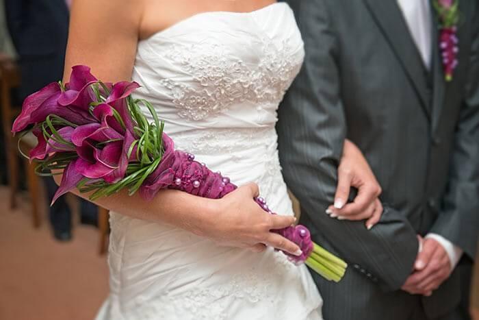 Brautstrau lila Calla  Bildergalerie Hochzeitsportal24