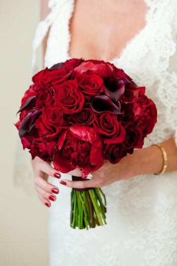Brautstrau mit roten Rosen  Bildergalerie Hochzeitsportal24