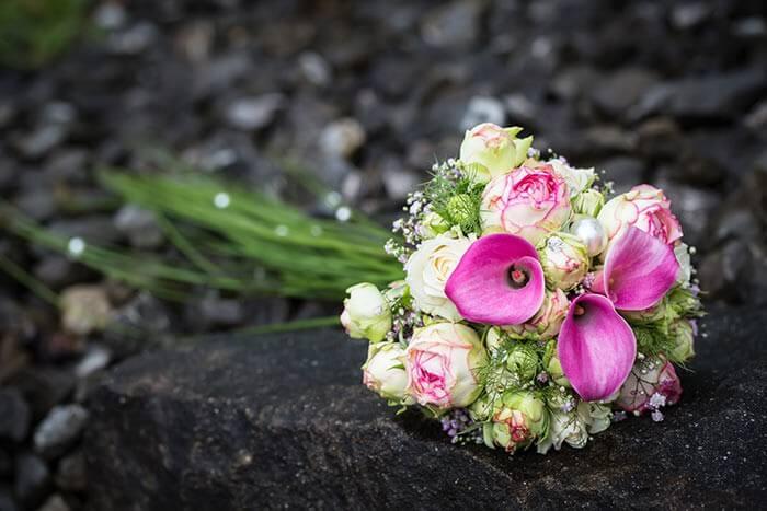 Brautstrau Pink Grn  Bildergalerie Hochzeitsportal24