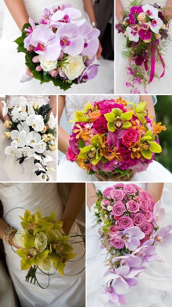 Brautstrau mit Orchideen und Lilien  Tolle Beispiel