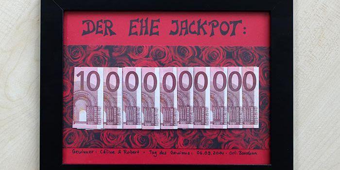 EheJackpot  Witziges Geldgeschenk zur Hochzeit leicht selber basteln