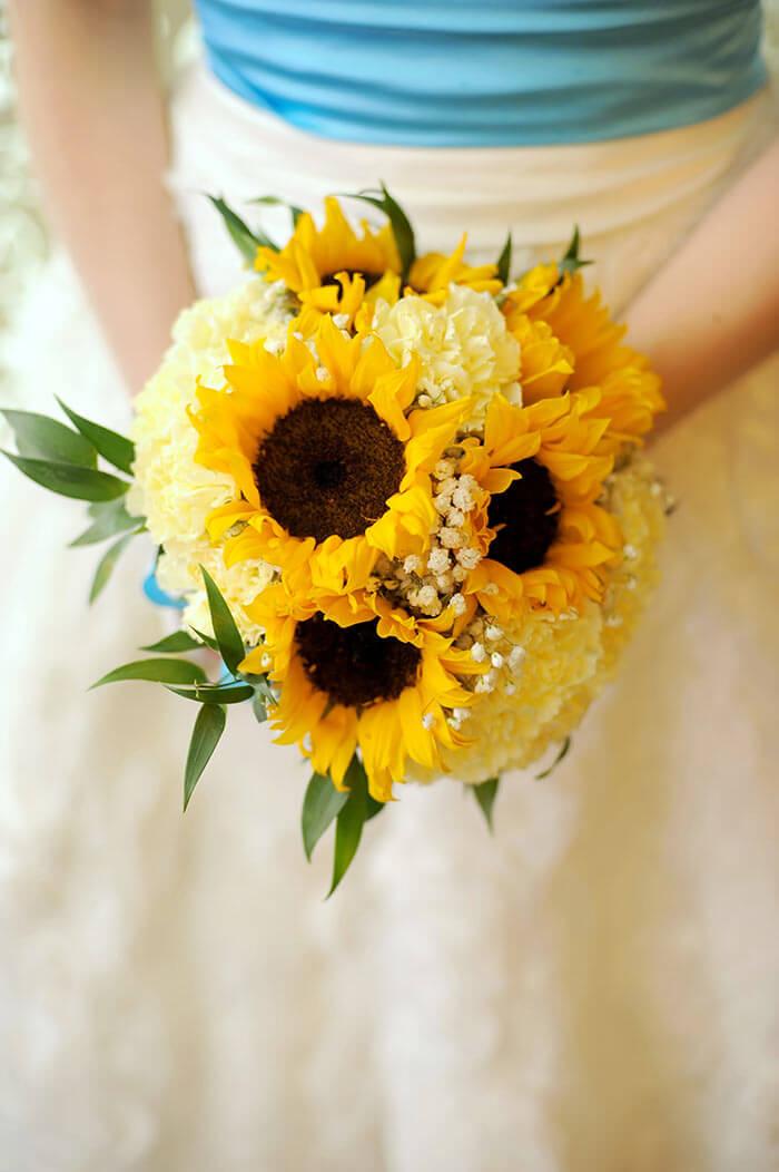 Sonnenblumen Brautstrau in strahlendem Gelb  Galerie