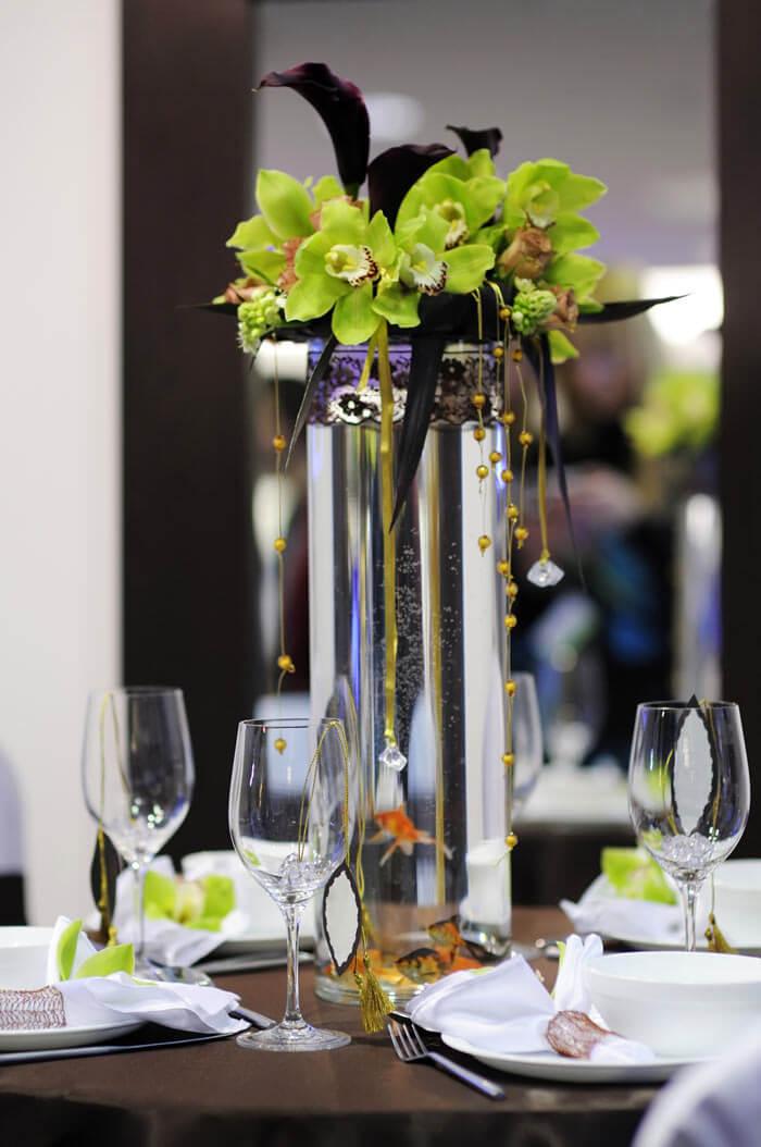 BlumenTischdeko zur Hochzeit  Bildergalerie