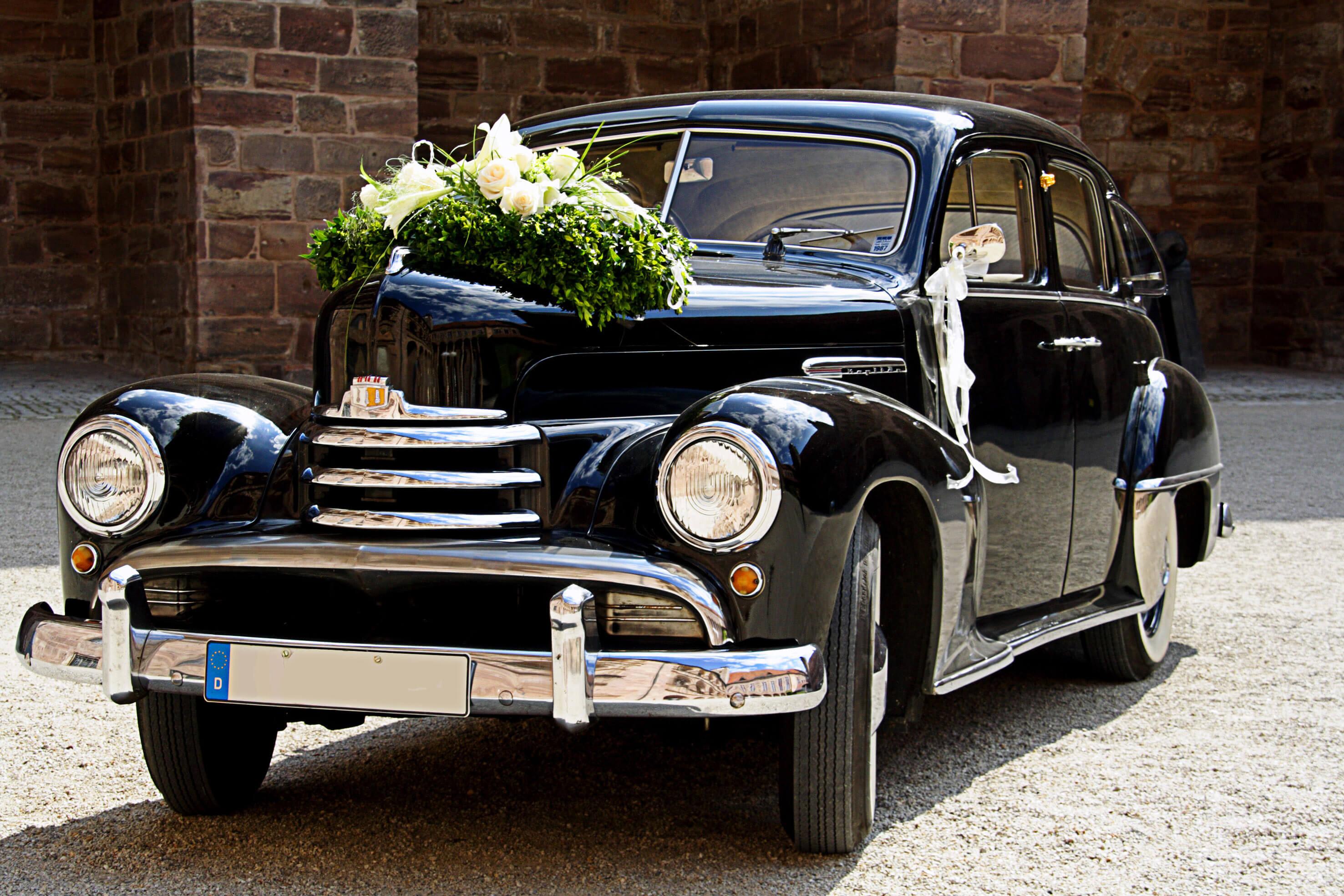 Blumendeko Auto Hochzeit  Groe Bildergalerie