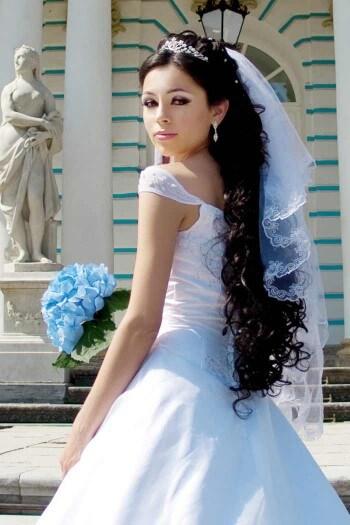 Brautfrisuren lange Haare mit Schleier  Hochzeitsportal24