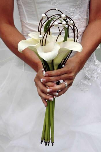 Brautstrau Calla wei  Bildergalerie Hochzeitsportal24