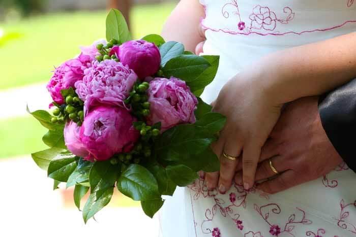 August Blumen Hochzeit