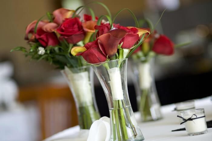 Brautstrau als Tischdeko  Bildergalerie Hochzeitsportal24