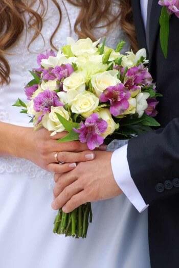 Brautstrau flieder wei  Bildergalerie Hochzeitsportal24