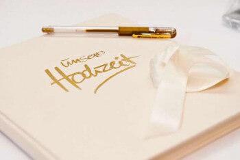 Hochzeitsgstebuch klassisch personalisiert oder verrckt  berblick