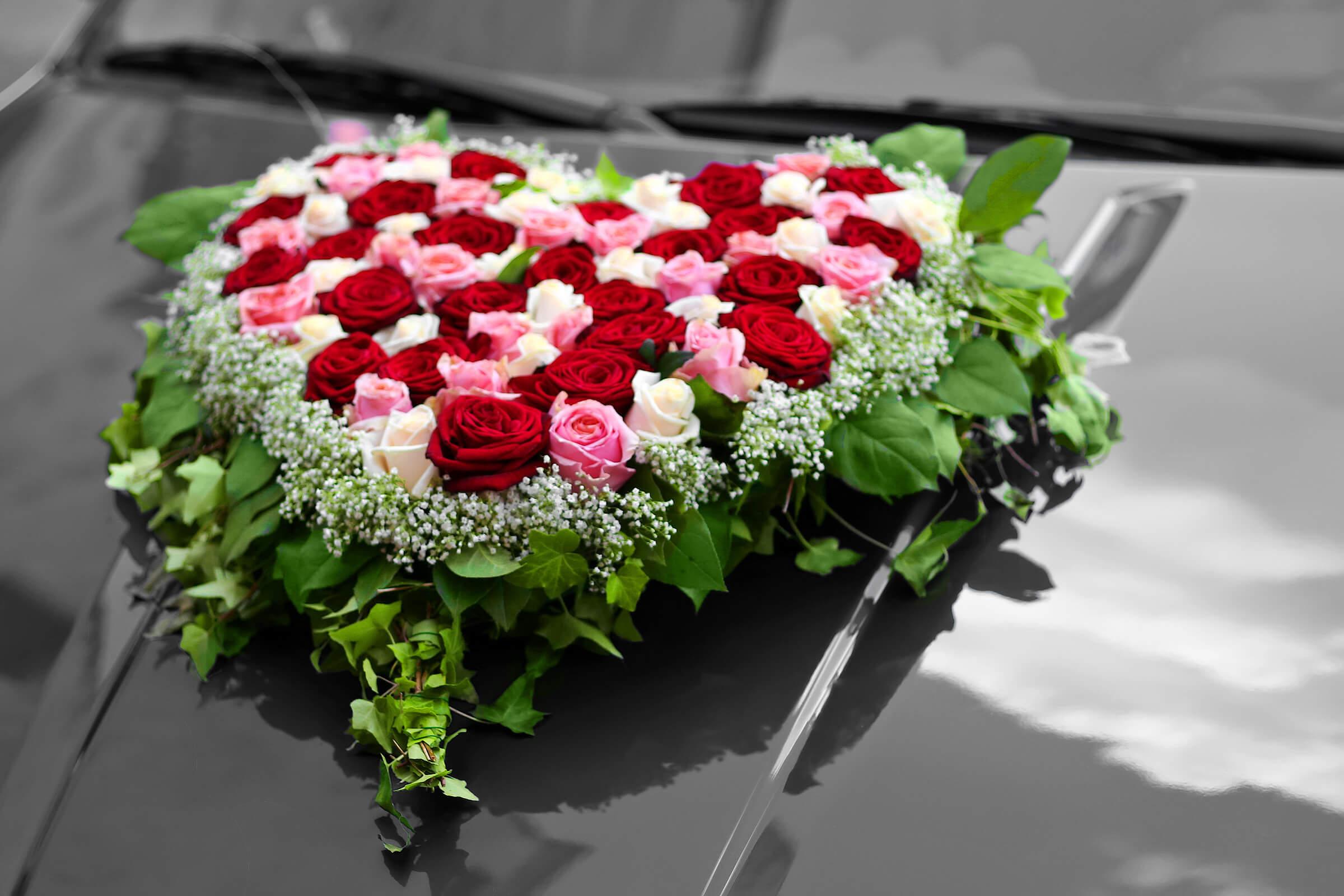 Herz Auto  Bildergalerie Hochzeitsportal24
