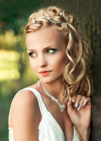 Brautfrisuren  offen halboffen mit Schleier Viele Ideen und Inspirationen