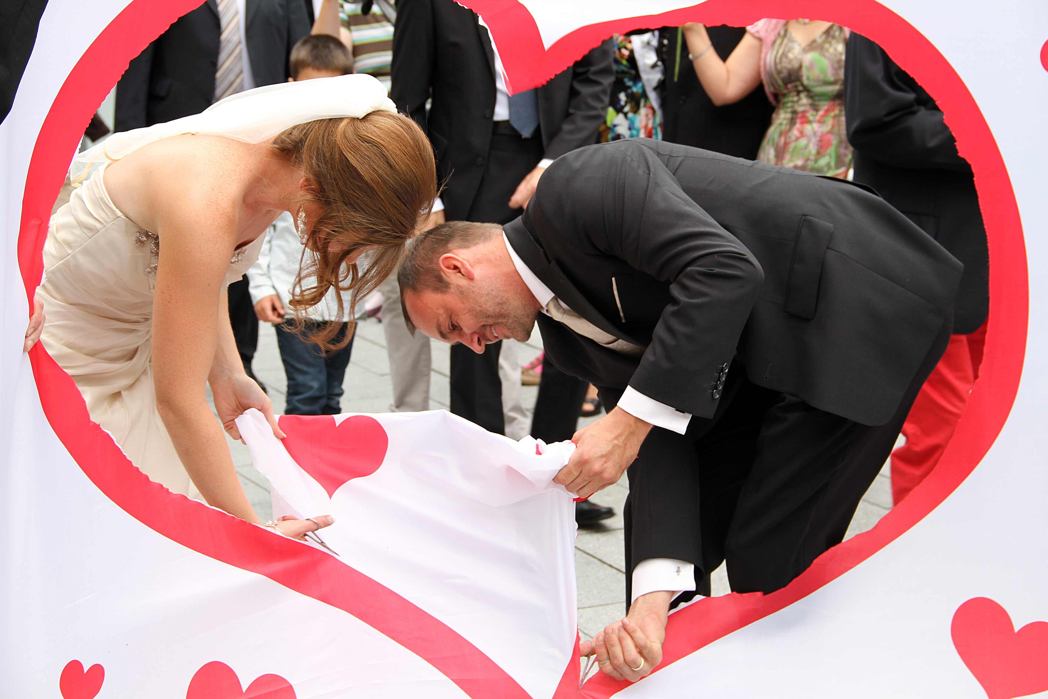Hochzeitsherz zum Ausschneiden  Hochzeitsportal24