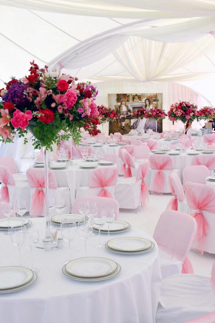 Tischdeko Hochzeit runde Tische  Bildergalerie