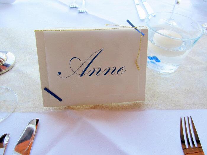 Tischkarten Hochzeit  Die besten Tipps Ideen
