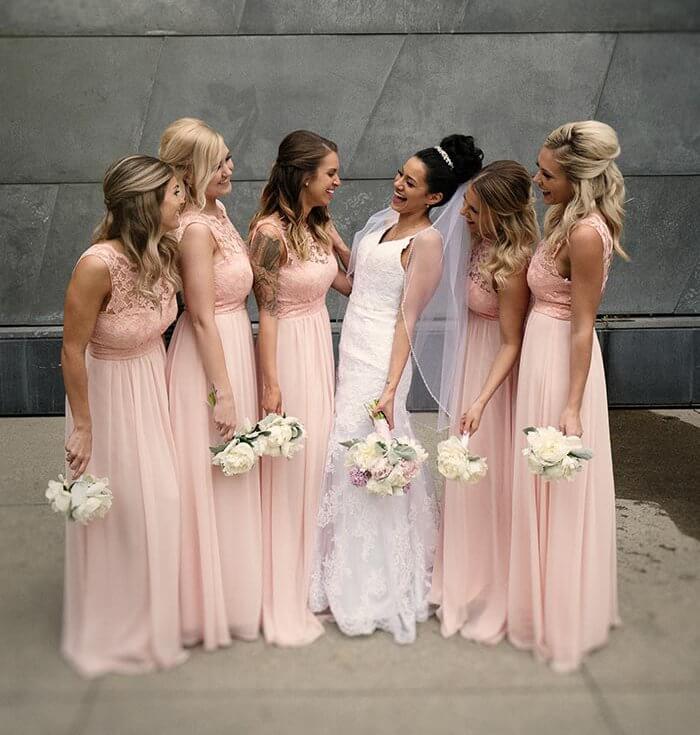 Brautjungfernkleider in Rosa  Pink I Inspirationen