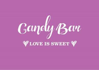 Candy Bar Schild ausdrucken  Kostenlose Vorlage