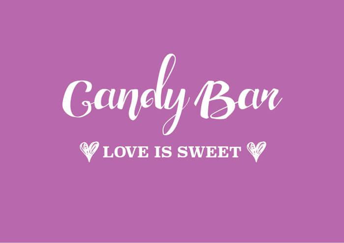 Candy Bar Schild zum Ausdrucken  Hochzeitsportal24