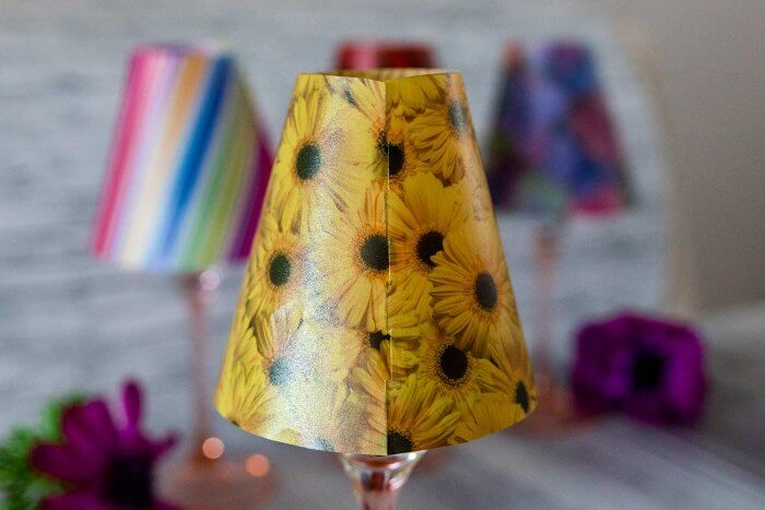 WeinglasLampenschirme basteln  DIYAnleitung