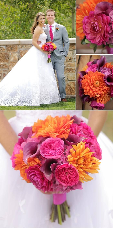 Hochzeit Pink  Orange  Eine Fotostory voller Inspiration