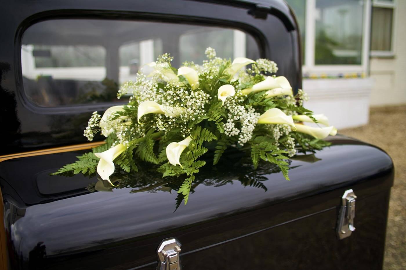 Autoschmuck zur Hochzeit Calla  Groe Bildergalerie