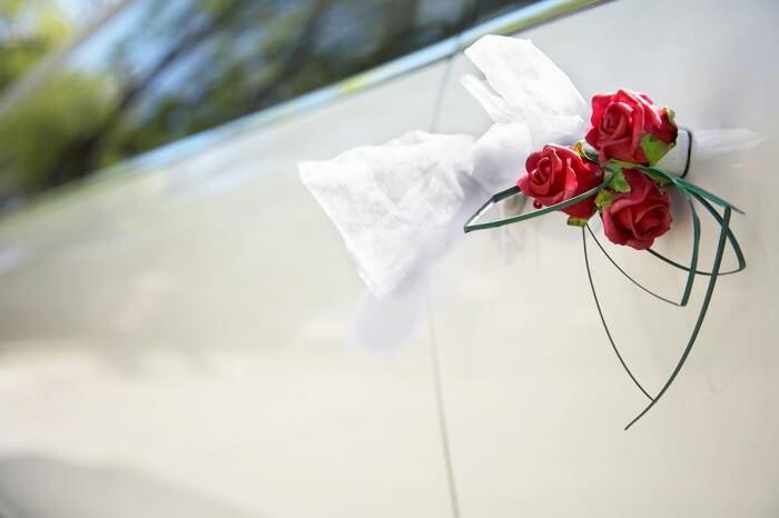 Autoschmuck Hochzeit Gste  Groe Bildergalerie