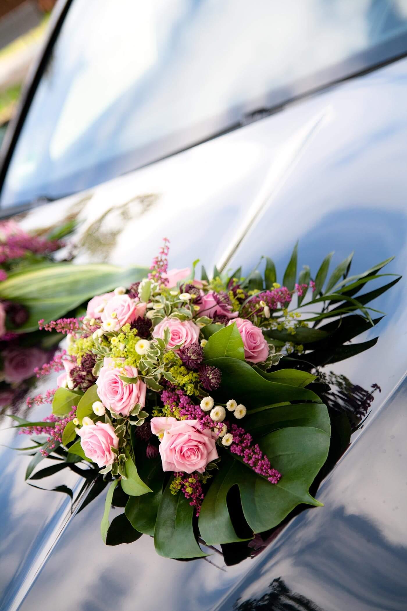 Hochzeit Autoschmuck Rosa  Groe Bildergalerie