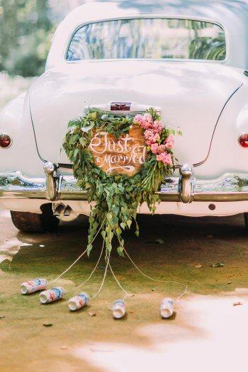 Hochzeit Dosen am Auto I Groe Bildergalerie Autoschmuck