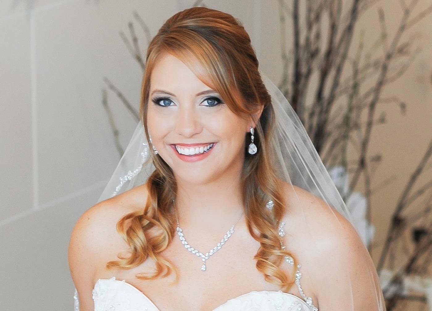 Hochzeitsfrisur halb hochgesteckt  BrautfrisurenBildergalerie