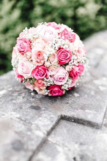 Brautstrau mit Rosen in rosa  Ganz viele Beispiele in