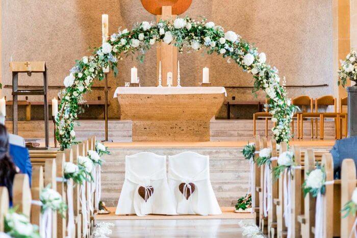 Hochzeit Kirchendekoration  Bildergalerie mit vielen