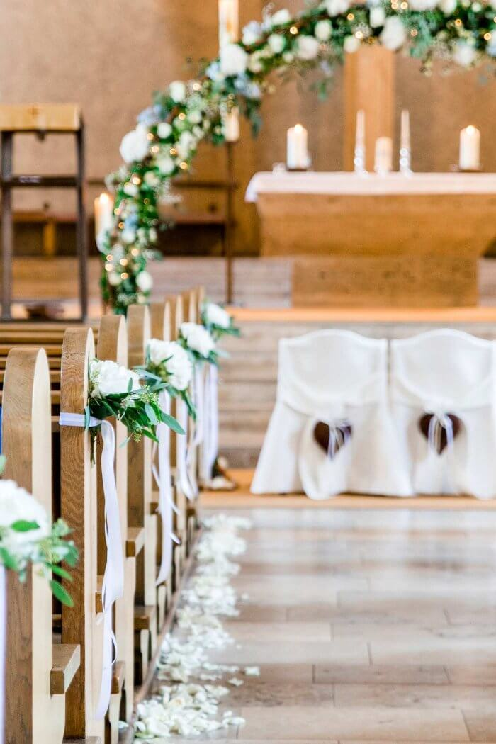 Hochzeitsdeko Kirchenschmuck  Viele schne Ideen in der