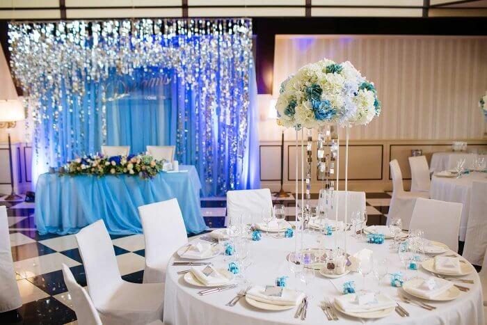 Hochzeitsmandeln Blau