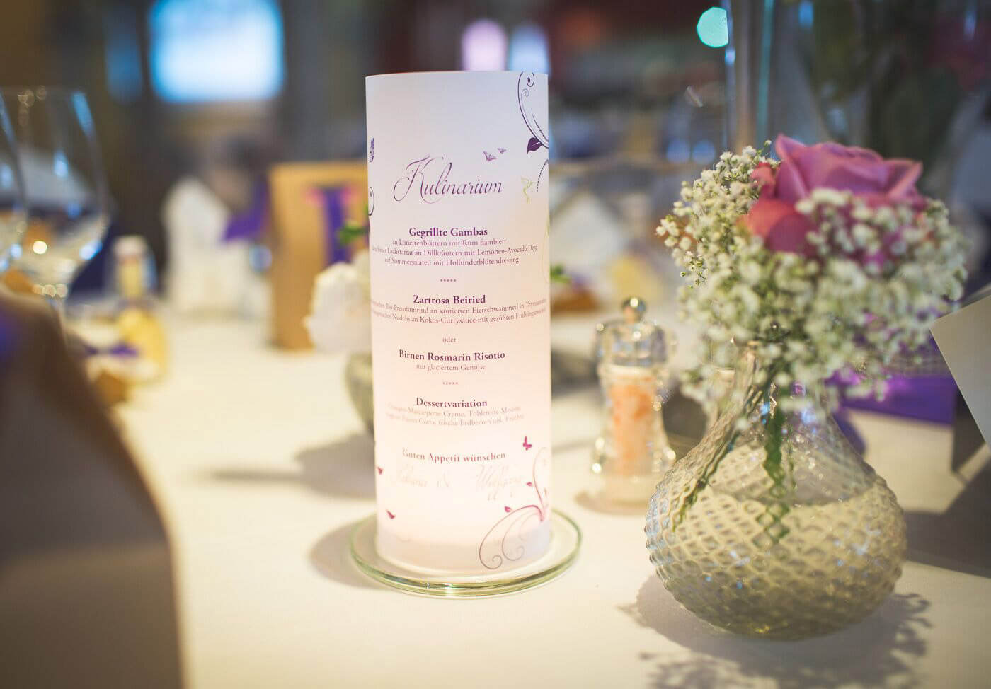 Menkarten Hochzeit Windlicht Infos  Preise