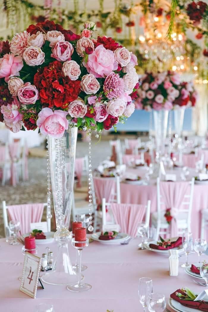Tischdeko Blumen Hochzeit  Bildergalerie mit Ideen