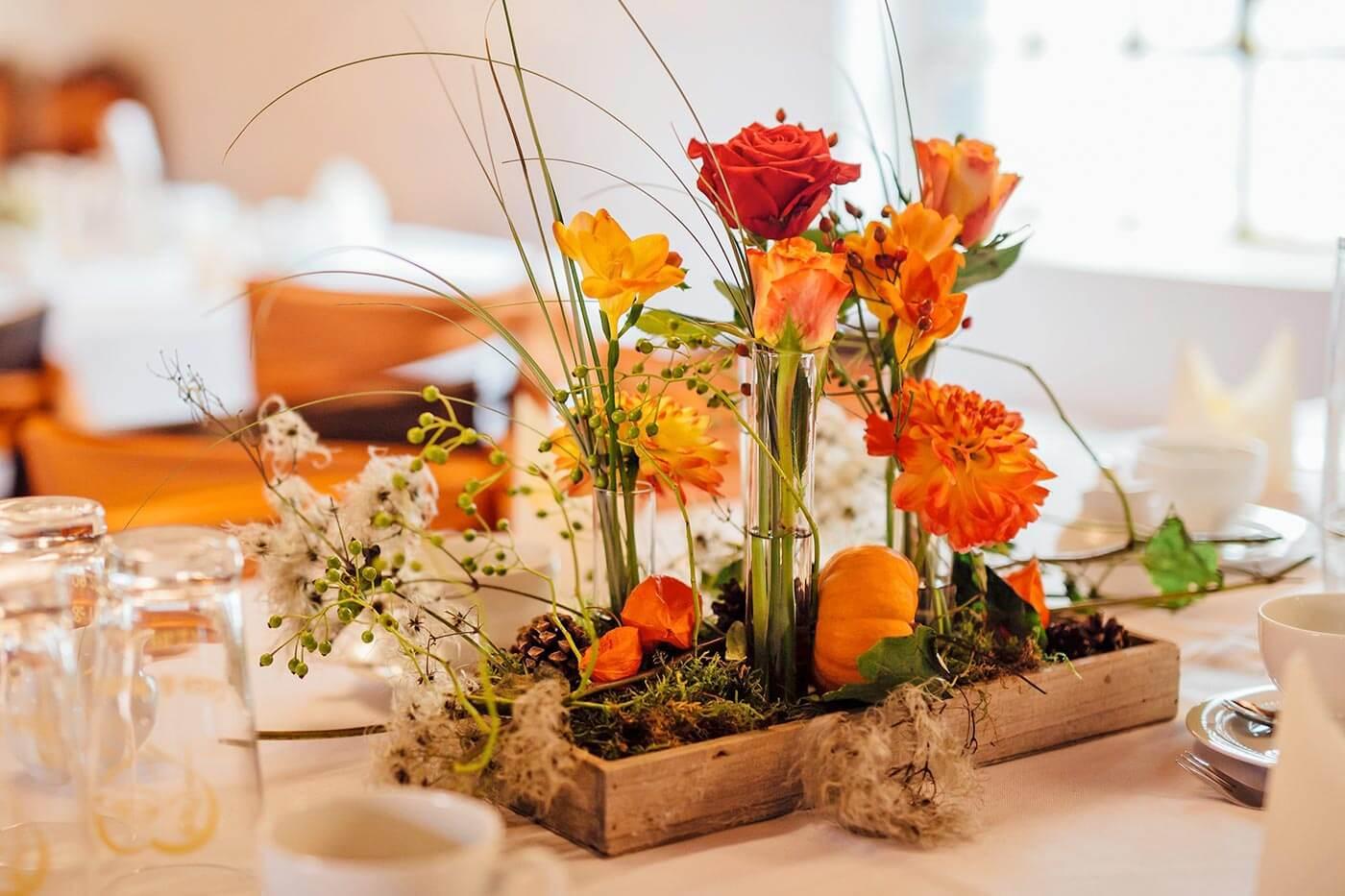 Tischdeko orange  Groe DekoBildergalerie zur Hochzeit