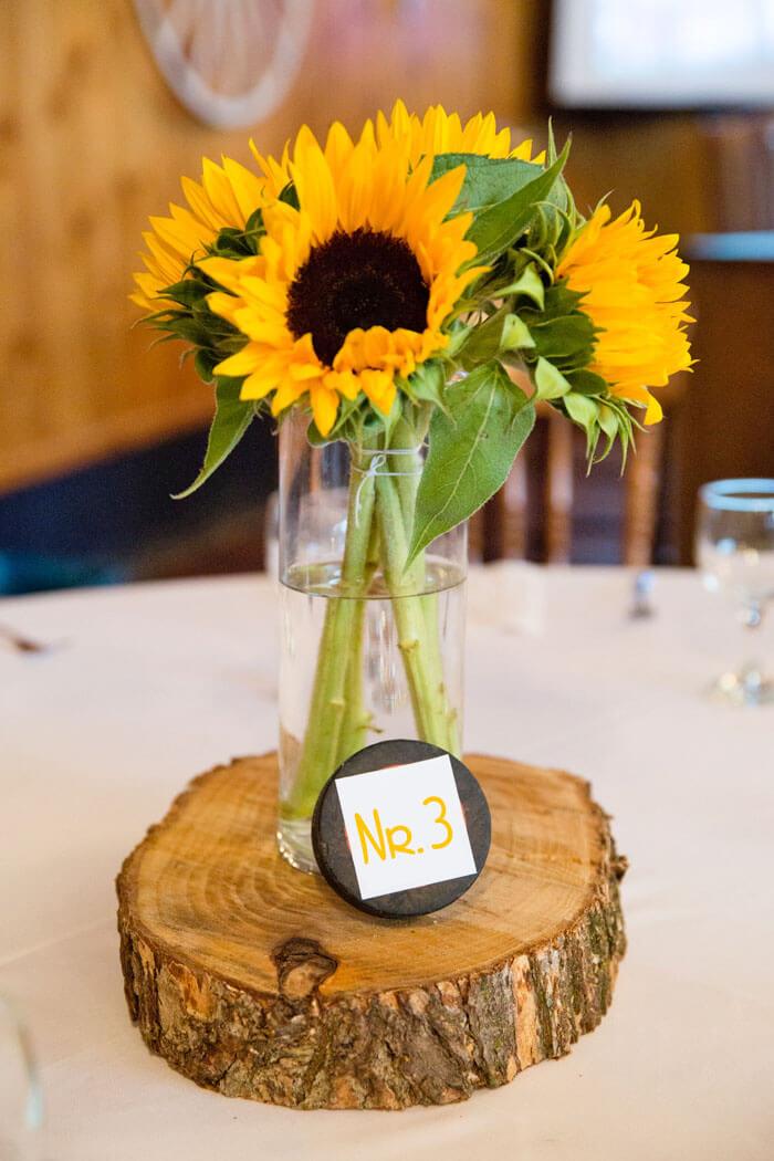 Tischdeko mit Sonnenblumen  Groe DekoBildergalerie