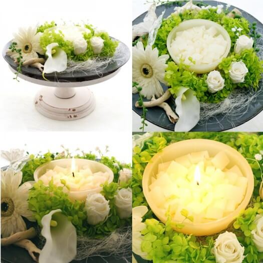 Tischdeko runde Tische  Hochzeitsportal24