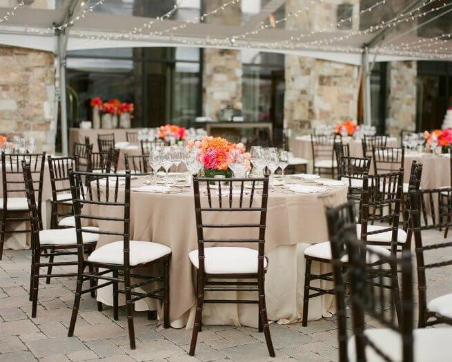 Tischdekoration Hochzeit runde Tische  Viele Beispiele in